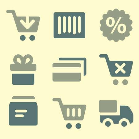 web icons: Shopping web icons set