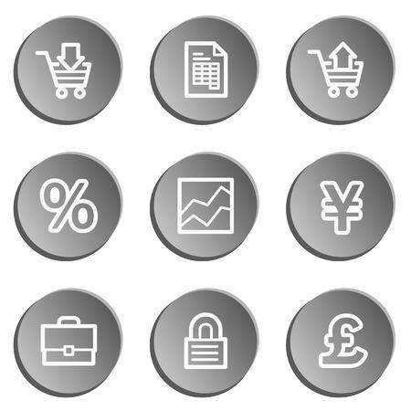 ebusiness: E-business web icons, grey stickers set