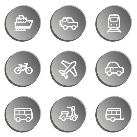 air liner: Transport web icons , grey stickers set Illustration
