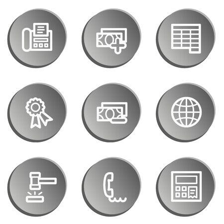 web 2: Finance web icon set 2, grey stickers set