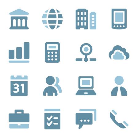 optimize: Business web icons set Illustration