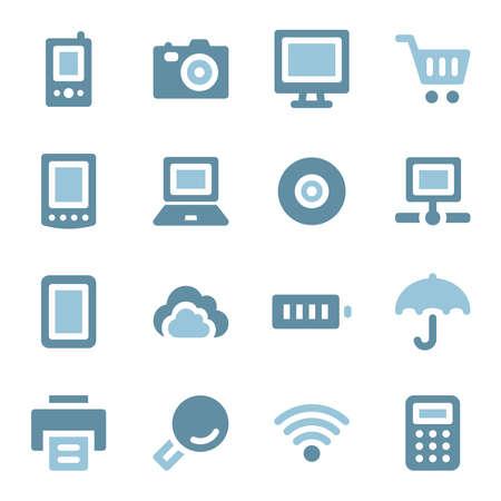 Cloud computing web icons set Vector