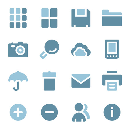 Photo collection web icons set Vector