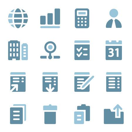web icons: Office web icons set