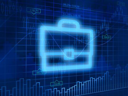 finance background: Investment portfolio symbol on finance background