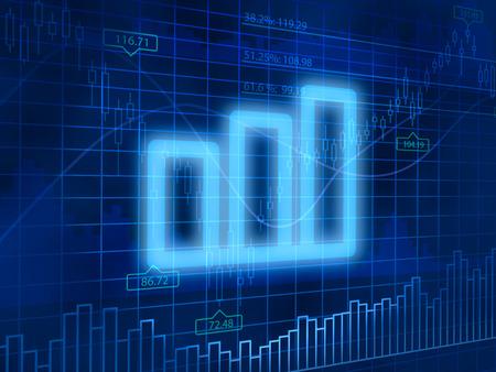 finance background: Chart symbol on finance background