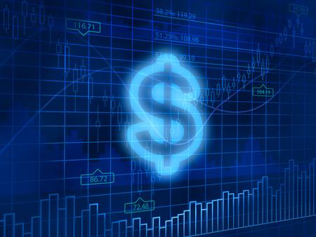 finance background: Dollar symbol on finance background