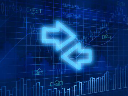 finance background: Exchange symbol on finance background