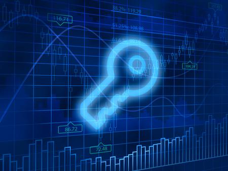 finance background: Key symbol on finance background