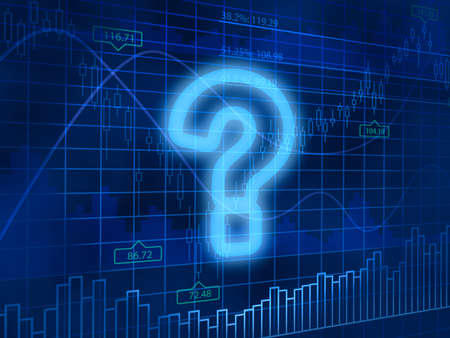 trading questions: Question mark symbol. Support Concept. Stock Photo