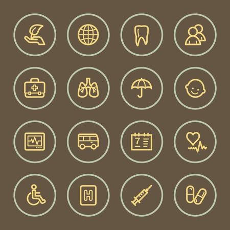 homeopathic: Medicine web icons set, coffee series Illustration