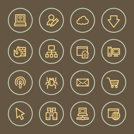 bugs shopping: Iconos del Web del Internet, serie de caf�