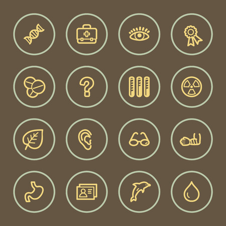 Medicine web icons set, coffee series Vector