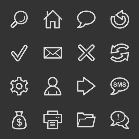 Web & internet icon set 1, grey set Vector