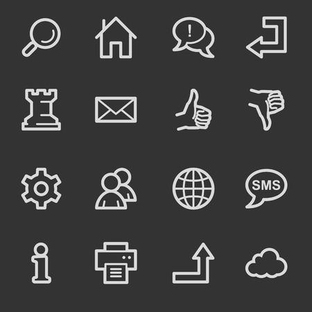 web 2: Web & internet icon set 2, grey set