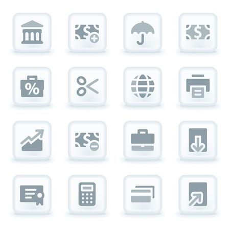 Finance web icons set Vector