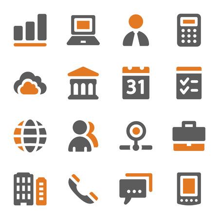Business web icons set Illustration