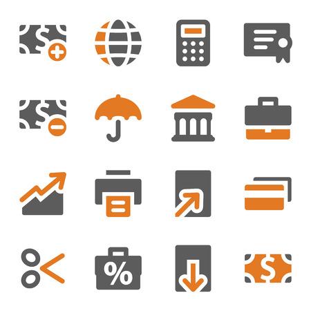pay cuts: Finance web icons set