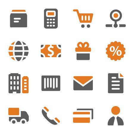 Shopping web icons set Vector
