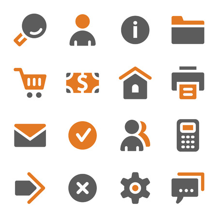 basic: Basic web icons set Illustration