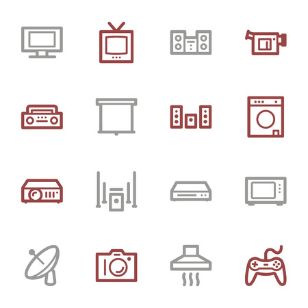 Home Appliance web icons set Vector