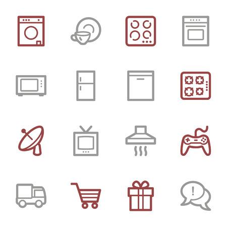 home appliances: Iconos Electrodom�sticos web conjunto