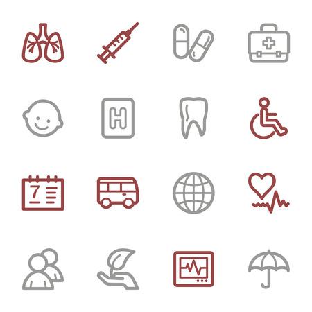 web icons: Medicine web icons set