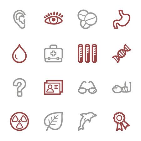 Medicine web icons set Vector
