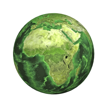 physical geography: Earth. Africa. Stock Photo