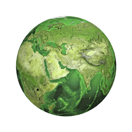 physical geography: Earth. Middle East Stock Photo