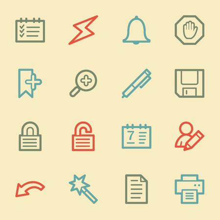 scheduler: Scheduler web icons, retro color Illustration
