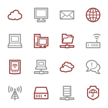 access point: Cloud computing & internet icons set Illustration