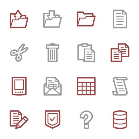 Document web icons set Vector