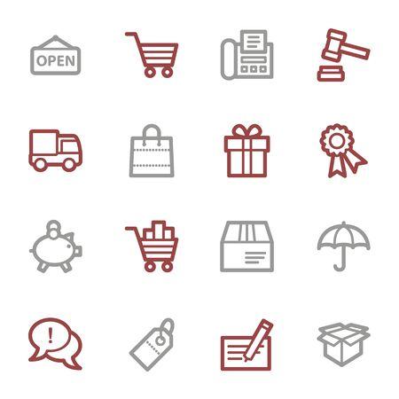web icons: Shopping web icons