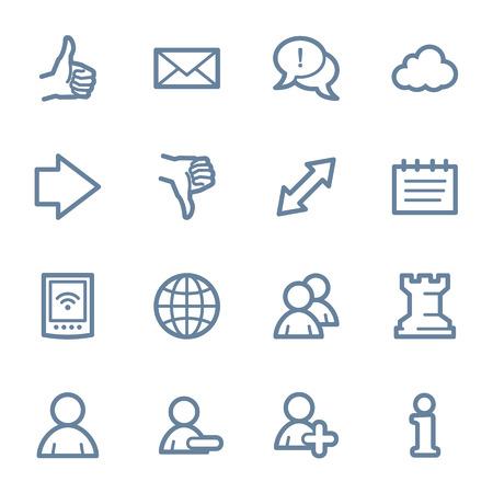 web icons: Social media web icons