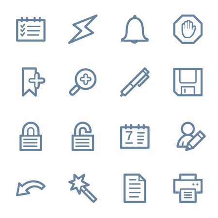 scheduler: Scheduler web icons set Illustration