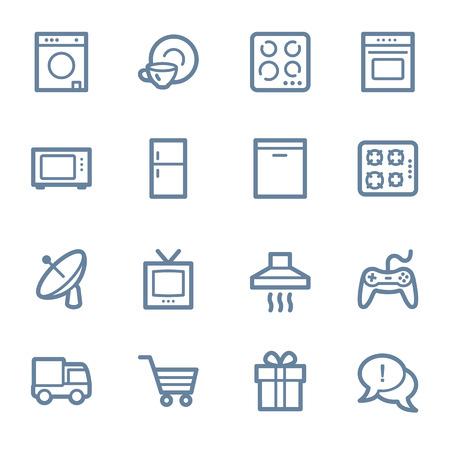 appliances: Home appliances web icons set Illustration