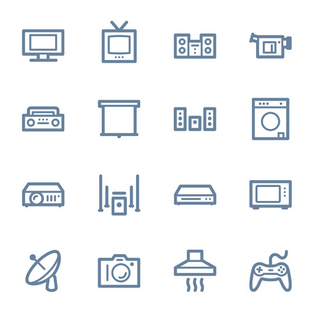 home appliance: Home Appliance web icons set