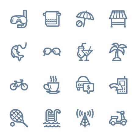 web icons: Vacation web icons set Illustration