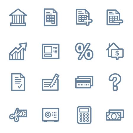 バンキング: 金融、銀行のアイコン  イラスト・ベクター素材
