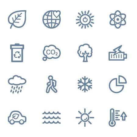 web icons: Green ecology web icons set