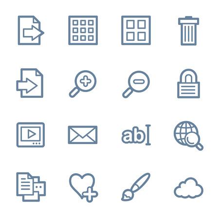 web icons: Image viewer web icons set