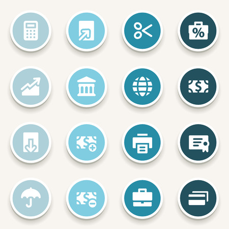 global finance: Finance web icons set