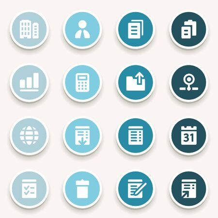 scheduler: Office web icons set