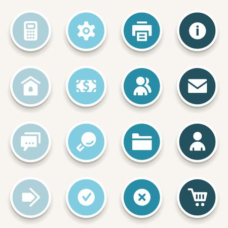 gear symbol: Basic web icons set Illustration
