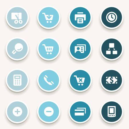 scheduler: Shopping web icons set