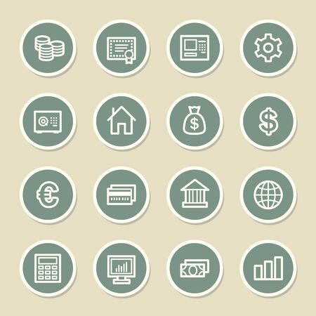 stock certificate: Money Web Icons