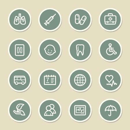 homeopathic: Medicine web icons set