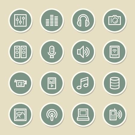 web icons: Media Web Icons Set
