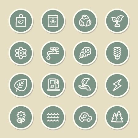 energies: Green ecology web icons set